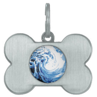 Surf in the sea pet name tag