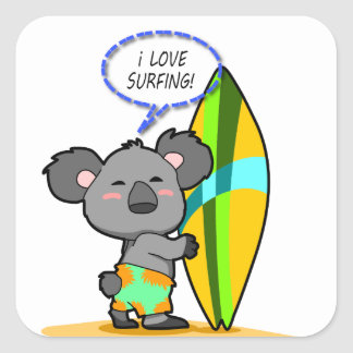 Surf Koala Bear Sticker
