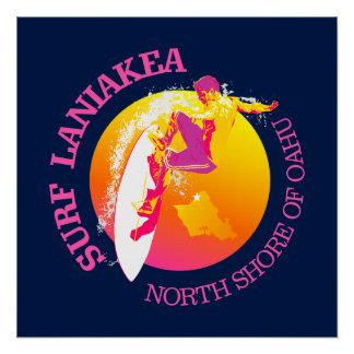 Surf Laniakea Perfect Poster