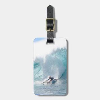 Surf Legend Rochelle Ballard Surfing Hawaiian Wave Luggage Tag