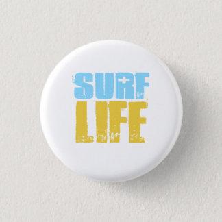 Surf Life Beach Surfer Style 1 Inch Round Button