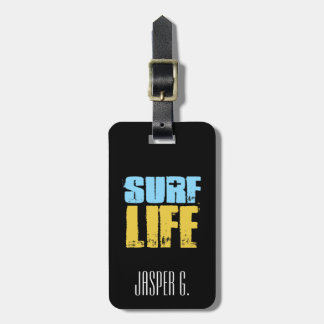 Surf Life Beach Surfer Style Luggage Tag