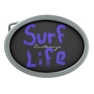surf life spray-painted blue  any color oval belt buckles