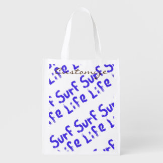 surf life spray painted on any color Thunder_Cove Grocery Bag