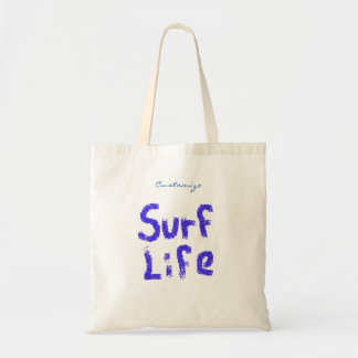 surf life spray painted on any color Thunder_Cove Tote Bag
