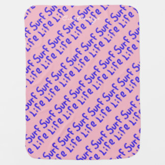 surf life Thunder_Cove pink/blue Baby Blanket