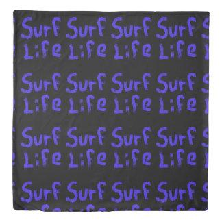 surf life Thunder_Cove red black Duvet Cover