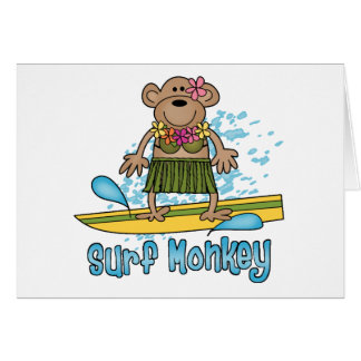 Surf Monkey (Girl) Note Card