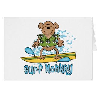Surf Monkey Note Card