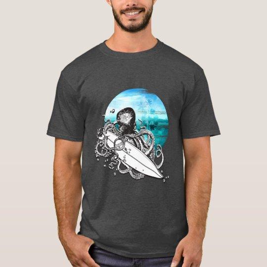 Surf Octopus Summer Ocean Island,  Men's T-Shirt