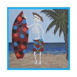 Surf or die canvas print