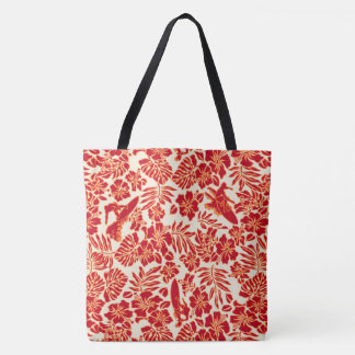 Surf Pareau Hawaiian Hibiscus Surfing Beach Bag