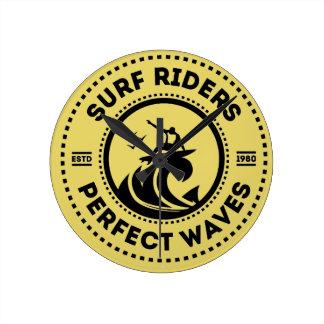 Surf Rider Wall Clock