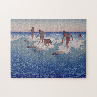 'Surf-Riders, Honolulu' - Charles W. Bartlett Jigsaw Puzzle