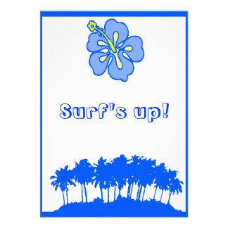 Surf s Up Party invite