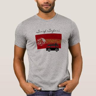 Surf Safari Grey cool tee shirt for men