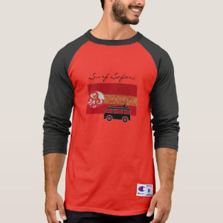 Surf Safari Red cool tee shirt for men