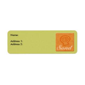 Surf Sand Return Address Label