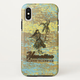 Surf Shack Hawaiian Faux Wood Surfboard iPhone X Case