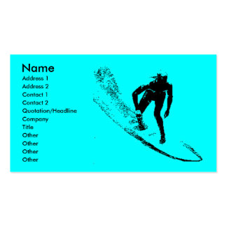 Surf Shop Business Pfofile Card Business Cards