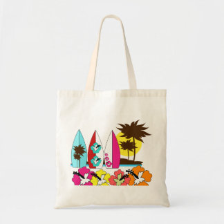 Surf Shop Surfing Ocean Beach Surfboards Palm Tree Tote Bag