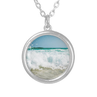 surf silver plated necklace
