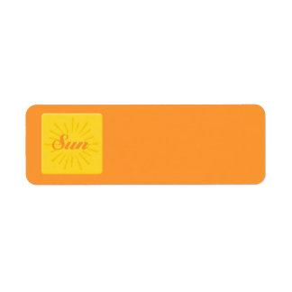 Surf Sun Étiquette D'adresse Retour