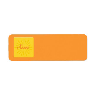 Surf Sun Return Address Label