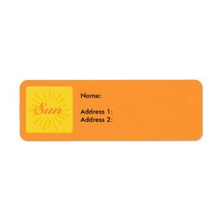 Surf Sun Return Address Label