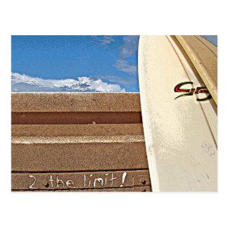 Surf surfboard 2the limit surfing Brown cream blue Postcard
