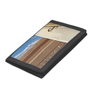 Surf surfboard 2the limit surfing Brown cream blue Trifold Wallets