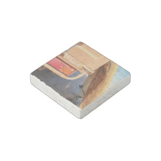 Surf surfboard insane surfing Sand and sea Stone Magnets