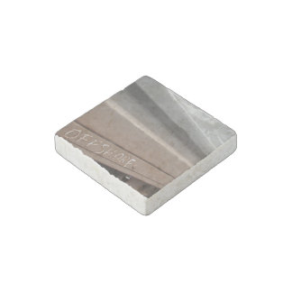 Surf surfboard offshore surfing Grey brown Stone Magnets
