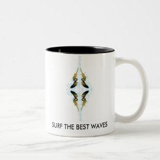 SURF THE BEST WAVES Two-Tone COFFEE MUG