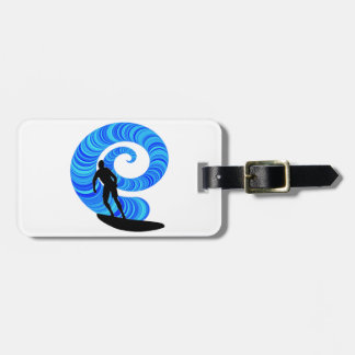 SURF THE THRILL LUGGAGE TAG