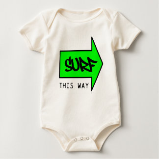 SURF THIS WAY BABY BODYSUIT