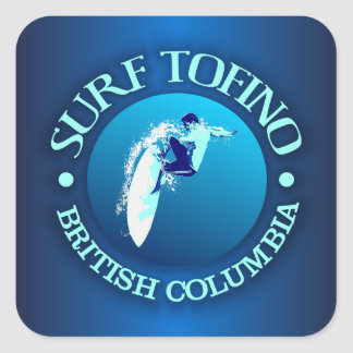 Surf Tofino Square Sticker