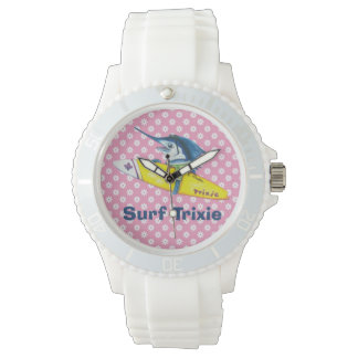 Surf Trixie pink floral watch