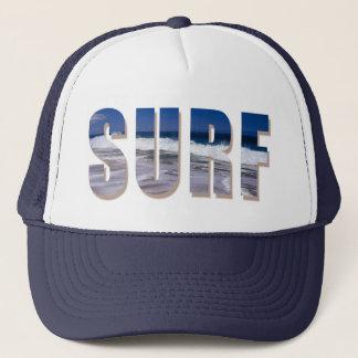 """""""Surf """" Trucker cap with Hawaiian Wave Print"""