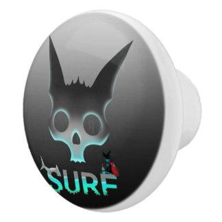 Surf Urban Graffiti Cool Cat Ceramic Knob