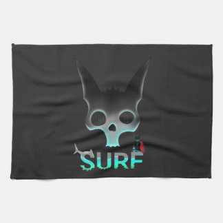 Surf Urban Graffiti Cool Cat Kitchen Towel
