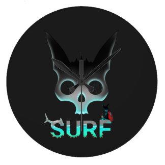 Surf Urban Graffiti Cool Cat Large Clock