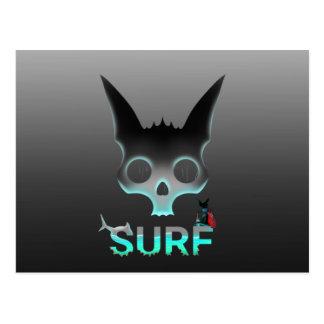 Surf Urban Graffiti Cool Cat Postcard