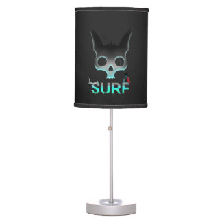 Surf Urban Graffiti Cool Cat Table Lamp