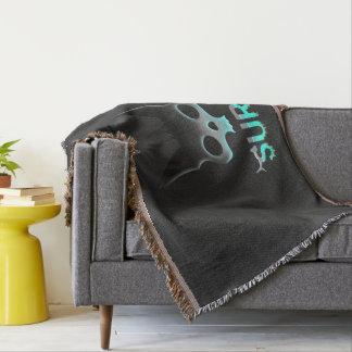 Surf Urban Graffiti Cool Cat Throw Blanket