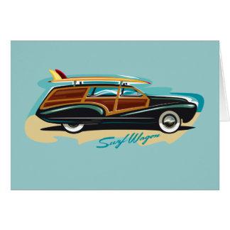 Surf Wagon Woody Card