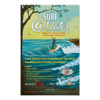 """Surf @Water Poster- 11"""" x 17"""" Poster"""