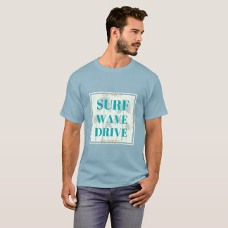 Surf Wave Drive surfing style tee