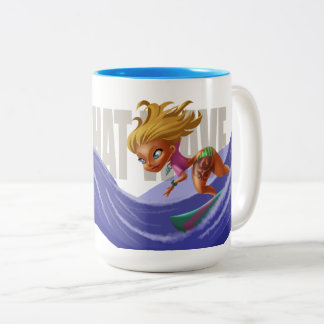 Surf Wave Two-Tone Coffee Mug