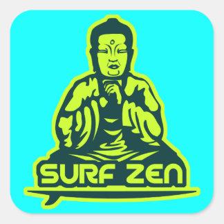 Surf Zen Square Sticker